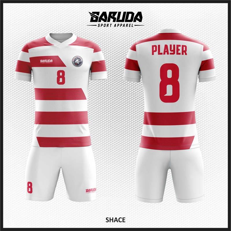 Desain Jersey Bola Warna Merah Putih