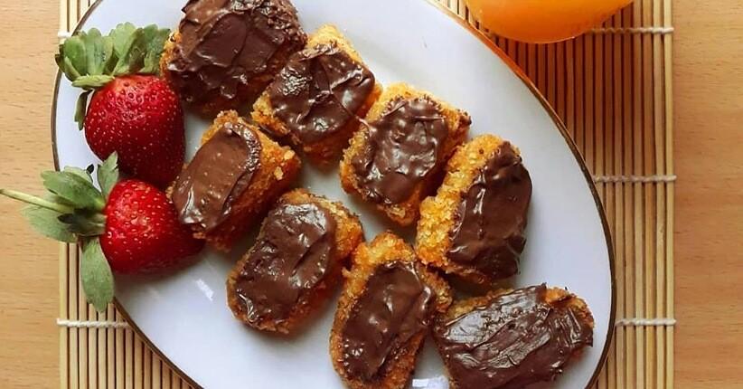 cara membuat pnugget pisang coklat