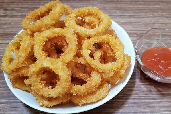cara membuat onion ring sederhana